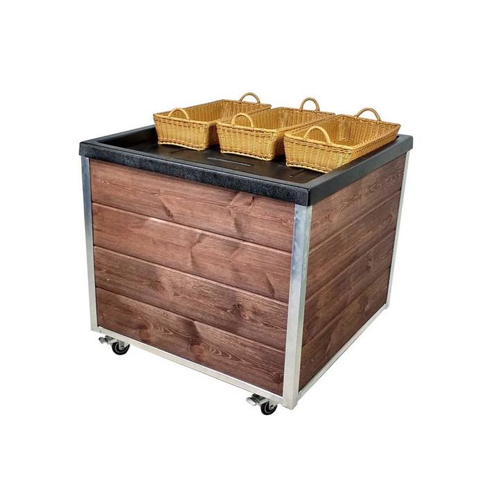wood produce orchard bin display