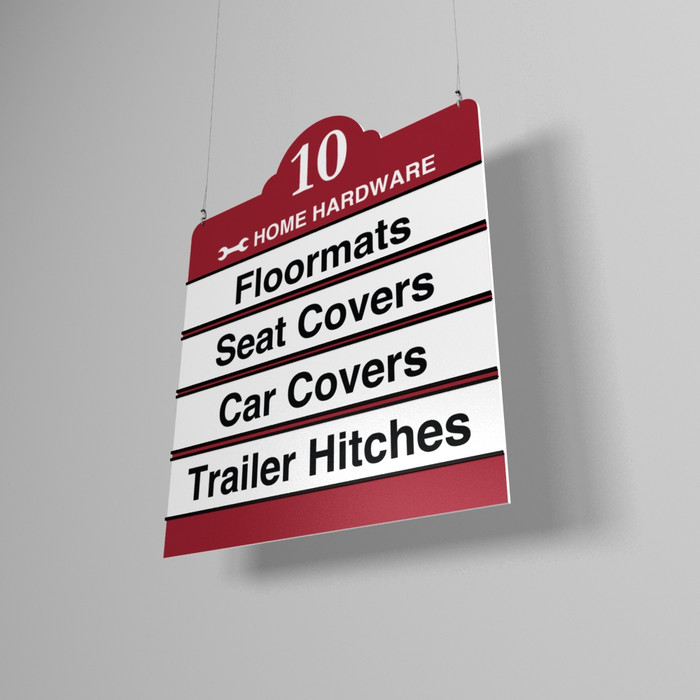 ARCHWAY Economy Hanging Aisle Signs for Hardware & Small Stores, 22W x 28H