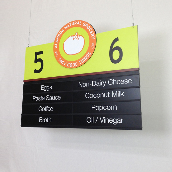 hanging Aisle Sign for Stores