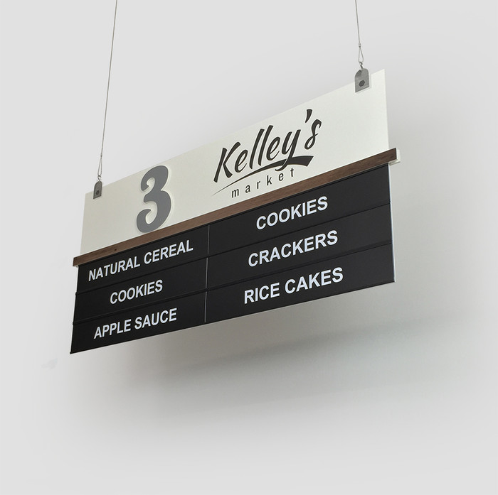 grocery store aisle sign