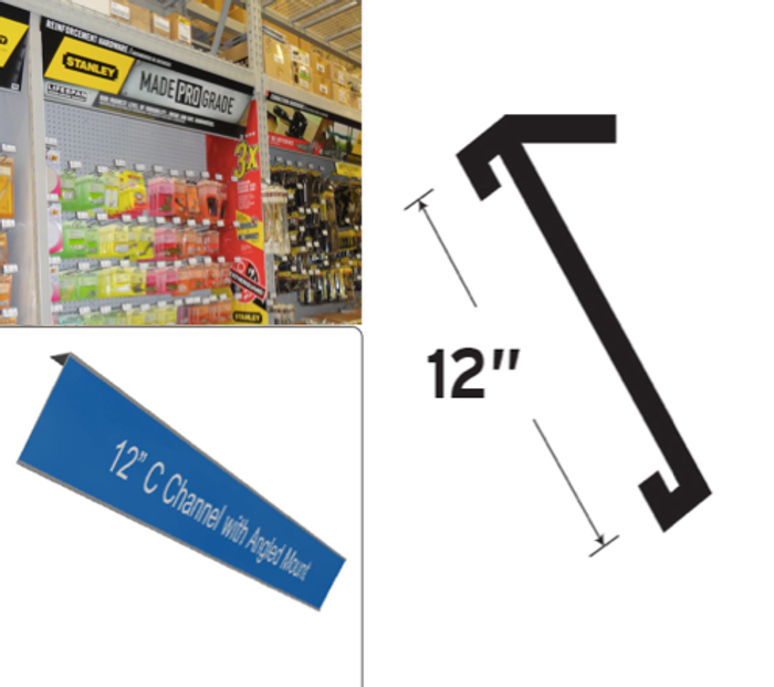 plastic sign channel 12 x 48