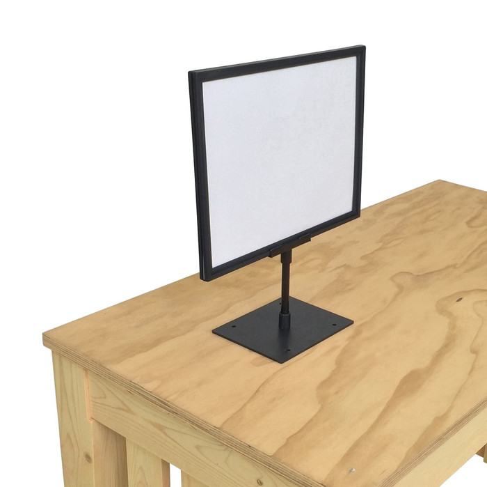 tabletop sign holder for retail displays