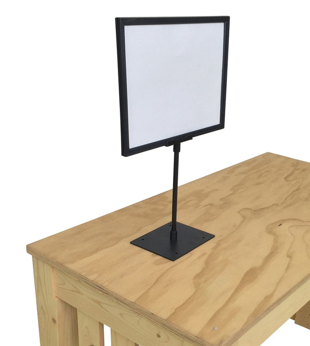 countertop sign holder 8.5 x 11