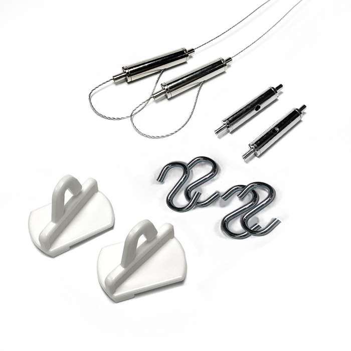 suspended ceiling hooks and cable kit of 3