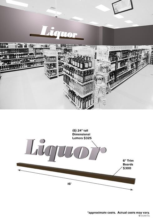 Liquor Store Interior Sign