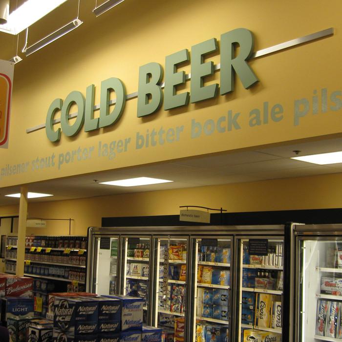 3 d letter beer sign