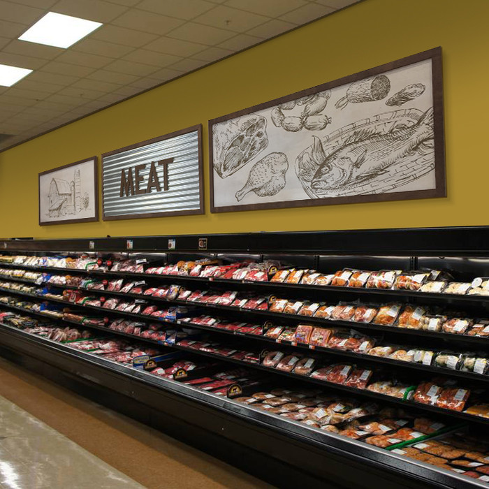 custom corrugated metal signs for retail