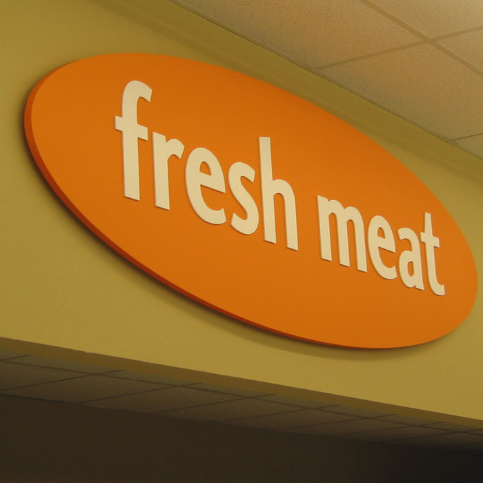 small grocery store sign