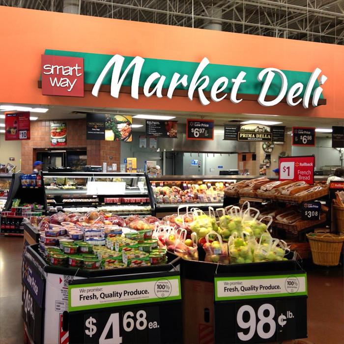 supermarket signage