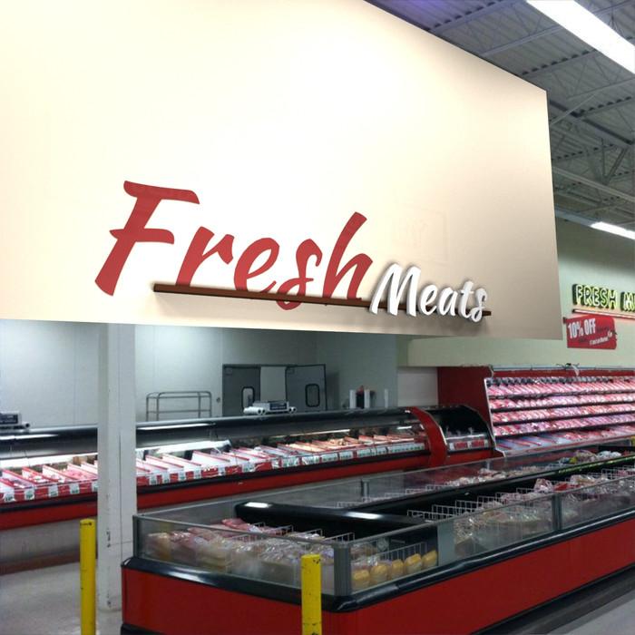 supermarket signage, deli signs