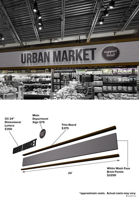 supermarket merchandising signs