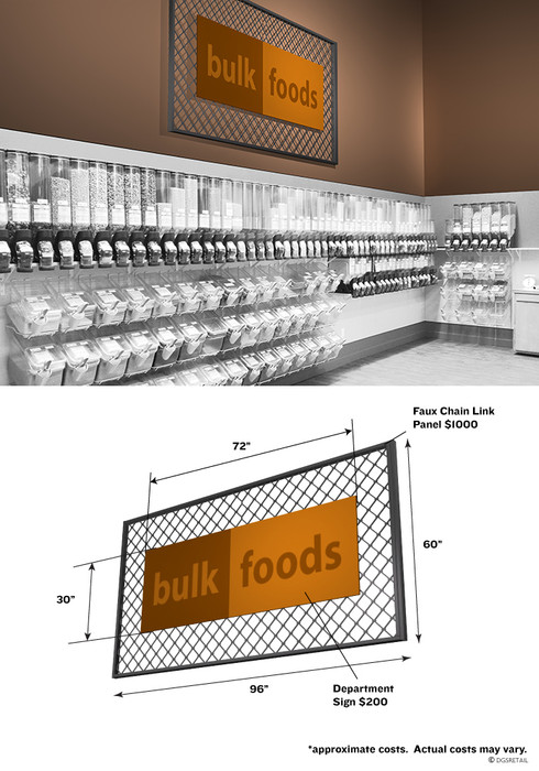 chain link fence sign for stores