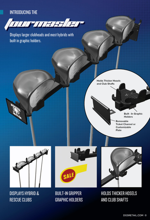 Golf Club Display Rack for Stores