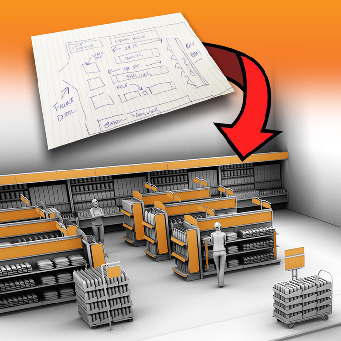 Free Convenience Store Design Layout Service, Retail Interior Design Ideas - No Obligation!