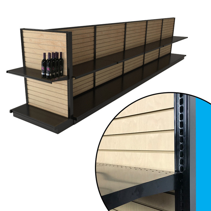 Black End Cap Shelves 36 x 16 Inches for Gondola