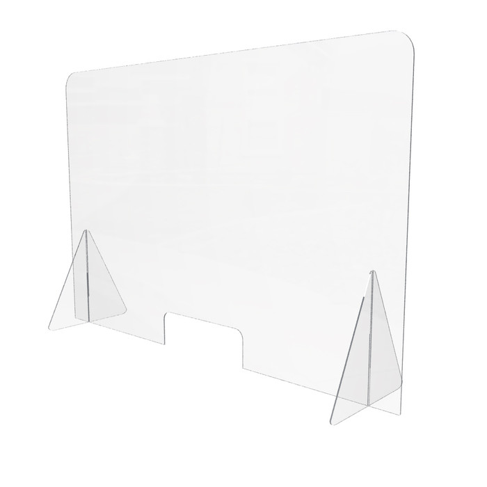 desktop acrylic sneeze guard made in the USA