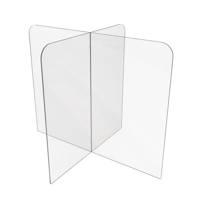 clear plastic table or desktop divider for restaurants, offices or schools