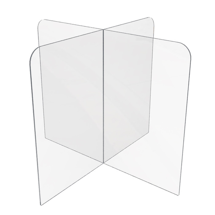 table divider sneeze guard designed for use at offices, schools or restaurants
