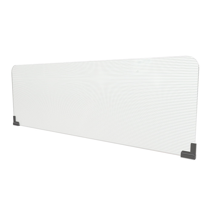 semi-clear corrugated plastic office cubicle extender sneeze guard manufactured by DGS retail