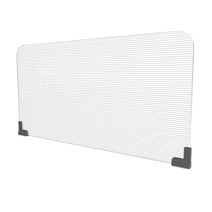 magnetic office cubicle sneeze guard with corrugated plastic panel manufactured by DGS Retail