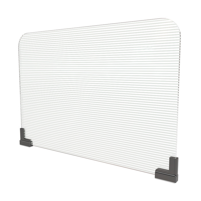 magnetic office cubicle sneeze guard extender with fluted corrugated plastic panel manufactured by DGS Retail