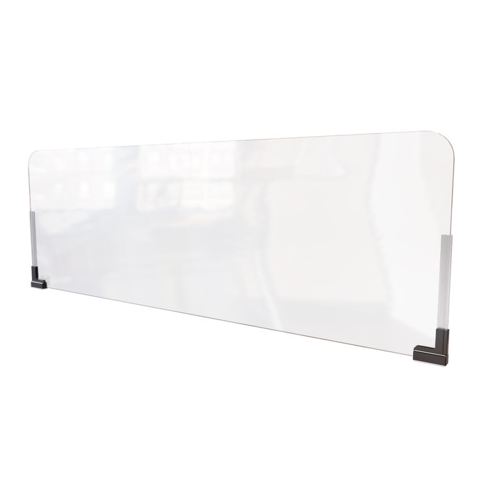 Magnetic cubicle wall extender sneeze guard made by DGS retail