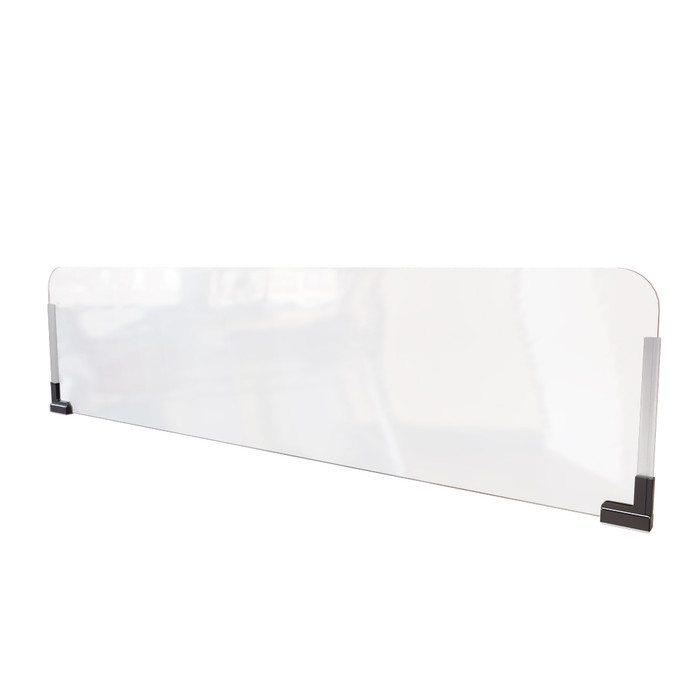 clear plastic office cubicle extender sneeze guard manufactured by DGS retail