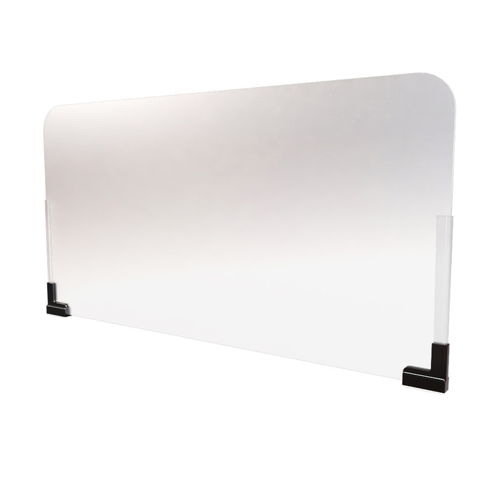 frosted plastic cubicle wall extender sneeze guard manufactured by DGS Retail