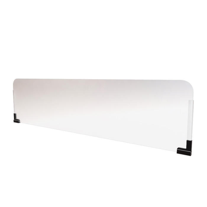 frosted acrylic plexiglass office cubicle extender sneeze guard that's manufactured by DGS Retail