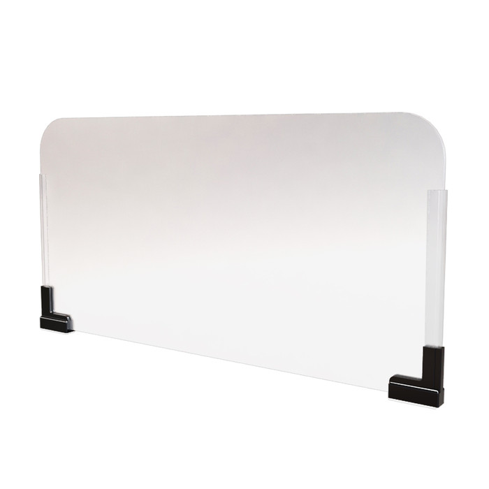 magnetic office cubicle extender sneeze guard manufactured by DGS Retail