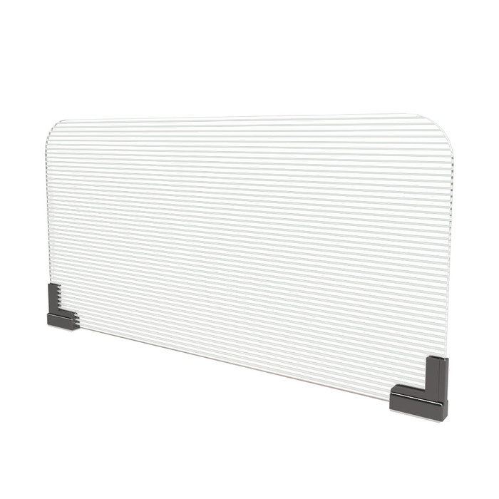 magnetic office cubicle extender sneeze guard with corrugated clear plastic panel manufactured by DGS Retail