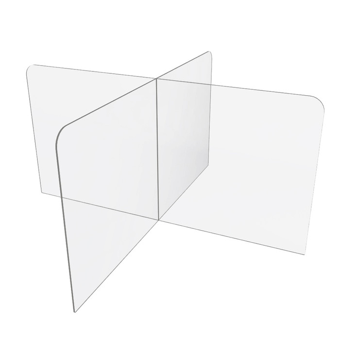 48 x 48 table or school desk sneeze guard manufactured by DGS Retail