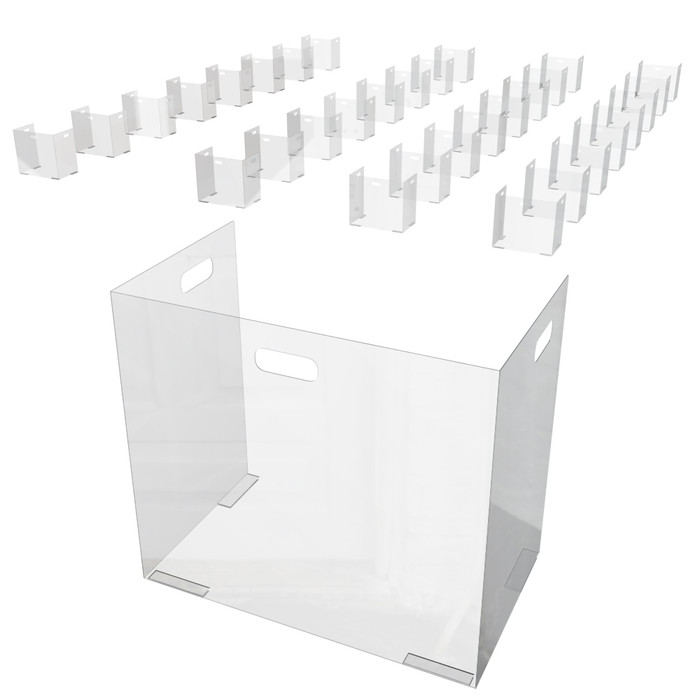 School Desk Sneeze Guard 25-Pack Made By DGS Retail