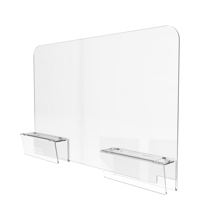 Clamp On Adjustable Office Cubicle Sneeze Guard Made By DGS Retail