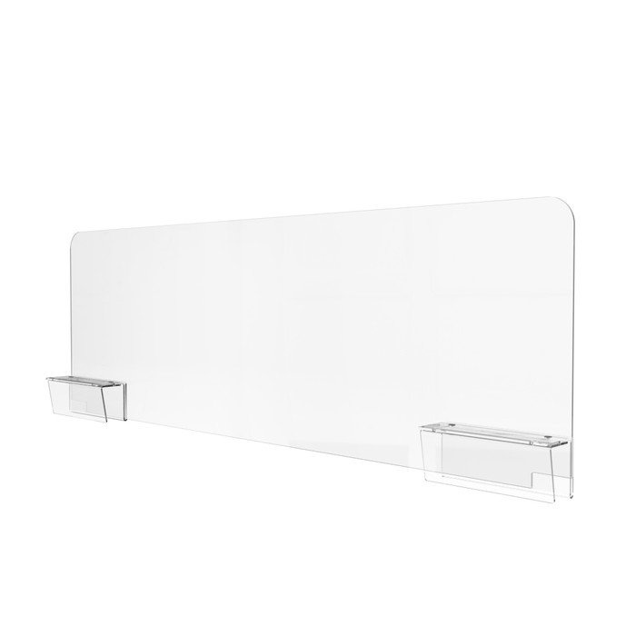Plexiglass cubicle dividers with brackets made by DGS Retail