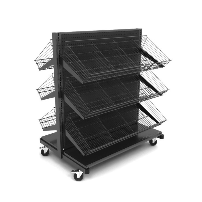 Rolling Gondola Shelving Rack Manufactured By DGS Retail