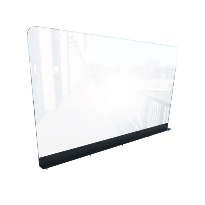 Restaurant Booth Clear Divider Partition Sneeze Guard, Top Mount 44W