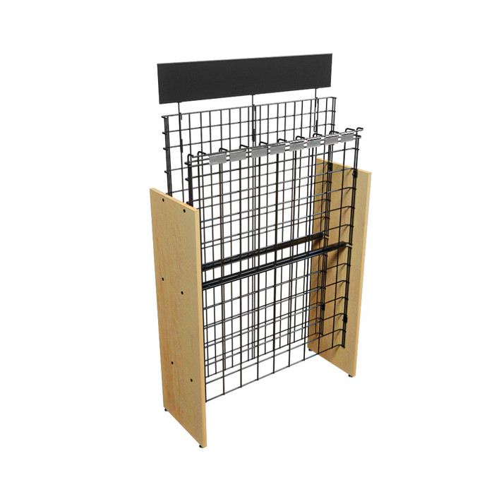 commercial wine rack used in liquor stores