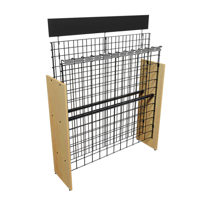 commercial wire wood wine rack manufactured by DGS Retail