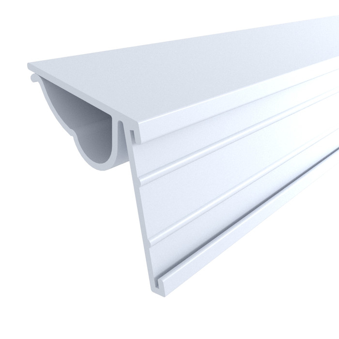 """Single Wire Cooler Shelf Price Tag Molding White, 24"""""""