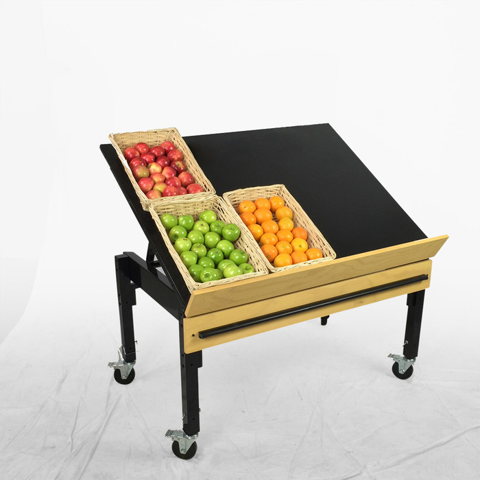retail produce display rack