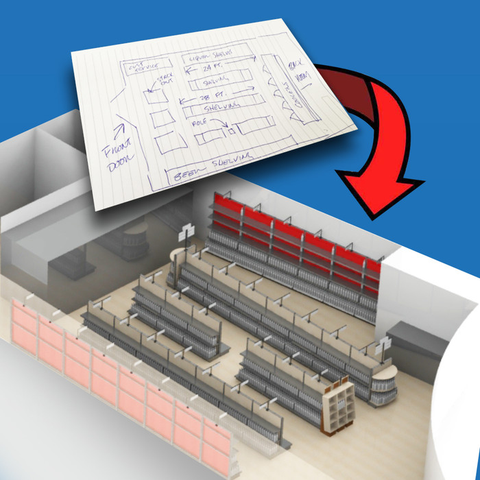 Free Liquor Store Design Layout Service, Retail Interior Design Ideas - No Obligation!
