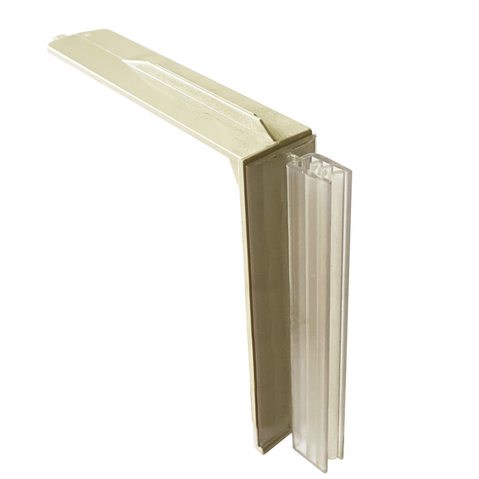 plastic aisle violator gripper sign holder for displaying retail sale signs on gondola shelving units at retail stores