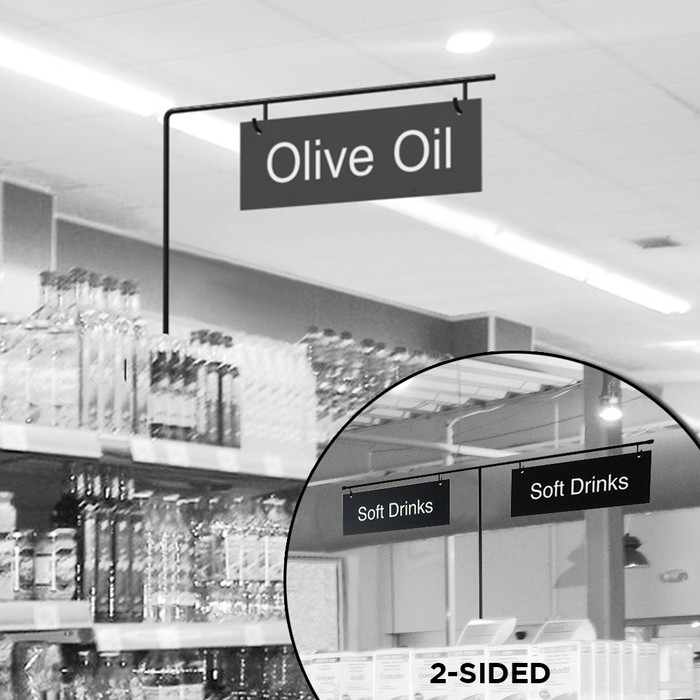 retail signage aisle sign