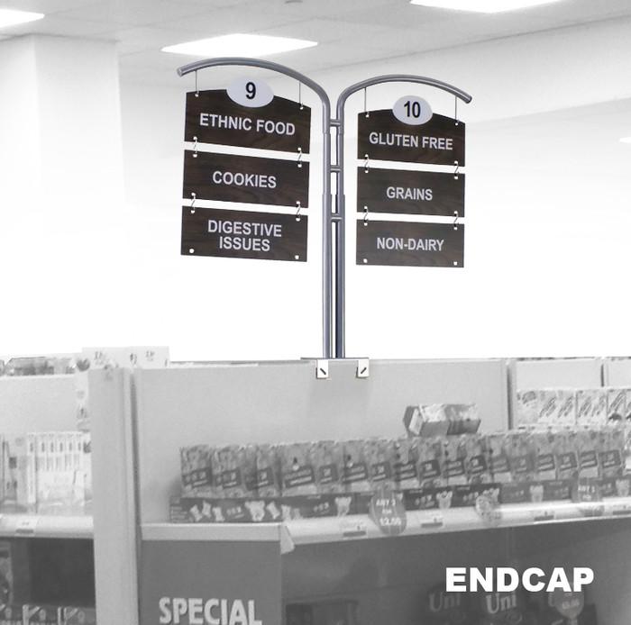 retail signage display for gondolas