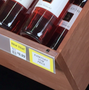 "Flip-up Plastic Label Holders for Wood Trim Shelves, 2""H x 48""L"