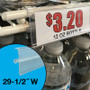 clear plastic store price tag channel strip for double wire cooler freezer shelves that is 29.5 inches wide