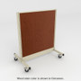 Platinum mobile gondola with brown stained wood back panel.