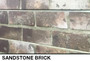 brown brick 3D slatwall wall display