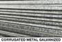 farm galvanized metal slatwall for retail wall displays